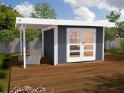Weka Designhaus Gerätehaus 126 Plus A Gr.2 anthrazit 445x300 cm