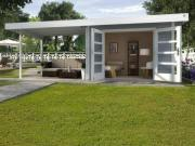 Weka Designhaus Gerätehaus 126 Plus B Gr.1 grau 590x240 cm