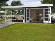 Weka Designhaus Gerätehaus 126 Plus B Gr.1 anthrazit 590x240 cm