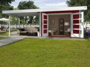 Weka Designhaus Gerätehaus 126 Plus B Gr.2 schwedenrot 590x300 cm