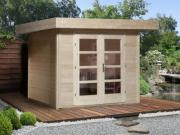 Weka Designhaus Gerätehaus 126 Plus Gr.2 natur 295x240 cm