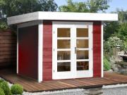 Weka Designhaus Gerätehaus 126 Plus Gr.2 schwedenrot 295x240 cm