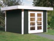 Weka Designhaus Gerätehaus 126 Plus Gr.3 anthrazit 295x300 cm