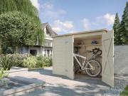 Weka Fahrrad- und Mülltonnenbox, natur 205 x 84 cm
