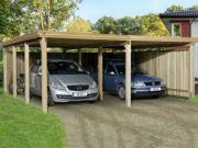 Weka FD-Doppelcarport Garage 618 Gr.2, 603x612 cm mit Trapezblech