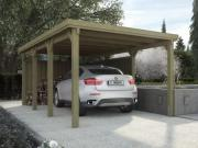 Weka FD Einzelcarport Garage 617 Gr.2 322x612 cm mit Trapezblech