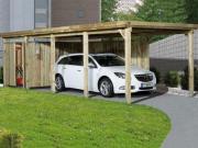 Weka FD Einzelcarport Garage 617 Gr.3, 322x802 cm ohne Dacheindeckung