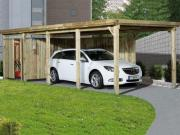 Weka FD Einzelcarport Garage 617 Gr.3, 322x802 cm mit Trapezblech