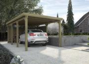 Weka Flachdach-Einzelcarport 617 Gr.2 294 x 591 cm