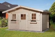 Weka Gartenhaus 110 Gr.2 naturbelassen VD 60 380 x 380 cm