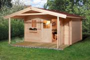 Weka Gartenhaus 111 A Gr.1 naturbelassen VD 200 380 x 450 cm