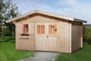 Weka Gartenhaus 111 Gr.3 naturbelassen VD 60 380 x 380 cm