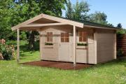 Weka Gartenhaus 135 A Gr.1 naturbelassen V200 380 x 500 cm