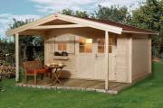 Weka Gartenhaus 136 A Gr.1 naturbelassen V200 380 x 500 cm