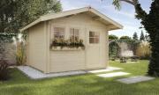 Weka Gartenhaus 139 A Gr.3 naturbelassen V60 300 x 380 cm