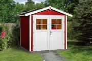 Weka Gartenhaus 224 Gr.1, rot 205 x 209 cm