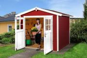 Weka Gartenhaus 224 Gr.2, rot 235 x 209 cm