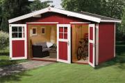 Weka Gartenhaus 261 Gr.1 naturbelassen Nebenraum m. E 400 x 235 cm