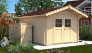 Weka Gartenhaus Premium28 28 mm Blockbohlenstärke Doppeltür 250x250 cm