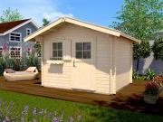 Weka Gartenhaus Premium45 FT 45 mm Blockbohlenstärke mit Einzeltür und Fenster 300x250 cm inkl. Dachschindeln