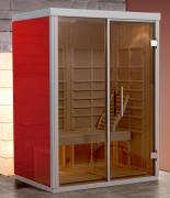 Weka Infrarotkabine AktiVit Gr.2 Rosso 150 x 108 x 206 cm