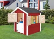Weka Kinderspielhaus 818 rot/weiss 122 x 122 cm