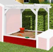 Weka Pergola für Kinderspielhaus 818 rot 118 x 118 cm