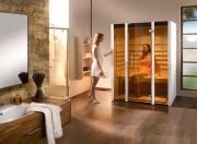 Weka Sauna Infrarotkabine Osby Gr. 1 mit Therm-Flächenstrahler, B140 x T99 x H190 cm