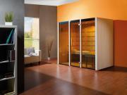 Weka Sauna Infrarotkabine Osby Gr. 2 mit Therm-Flächenstrahler, B212 x T125 x H190