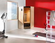 Weka Sauna Infrarotkabine Tanilla Eck mit Keramikstrahler, B99 x T99 x H190 cm