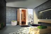 Weka Sauna Infrarotkabine Vaala Gr.1 mit Keramikstrahler, B102 x T100 x H190 cm