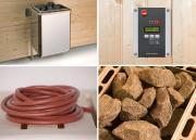 Weka Saunaofen-Set BioS 4,5 KW mit Ofenanschlußkabel für Kabinengrößen 3 bis 6 m³