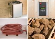 Weka Saunaofenset 3 - 9,0 kW OS inklusive digitaler Systemsteuerung und Silikon-Anschlusskabel
