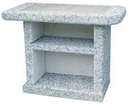 Wellfire Beistelltisch AVANTA Grau-Weiß 90 x 46 x 70 cm