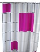 Wenko Anti Schimmel Duschvorhang Badewannenvorhang Polyester 180x200cm Abstract