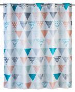 WENKO Anti-Schimmel Duschvorhang Ethno Flex, Polyester, 180 x 200 cm, waschbar