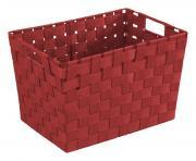 WENKO Badkorb Adria M, 35 x 22 x 25,5 cm, Rot