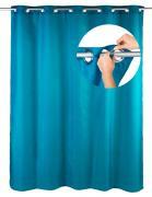 WENKO Duschvorhang Comfort Flex Petrol, 180 x 200 cm, waschbar