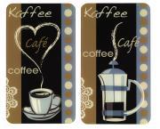 WENKO Herdabdeckplatte Universal Kaffeeduft, 2er Set, für alle Herdarten