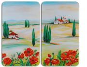 WENKO Herdabdeckplatte Universal Toscana, 2er Set, für alle Herdarten
