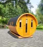 Wolff Finnhaus Campingfass Sylt 446-2 Bausatz schwarz Ø235 x 446