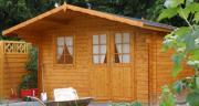 Wolff Finnhaus Gartenhaus Lisa 44-B XL Naturbelassen 360 x 360 cm