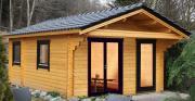 Wolff Finnhaus Holz Ferienhaus 70 mm Göteborg 70-B Modern Naturbelassen 414 x 571 cm