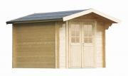 Wolff Finnhaus Holz Gartenhaus 34 mm Britta 34-A Naturbelassen 240 x 240 cm