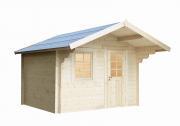 Wolff Finnhaus Holz Gartenhaus 34 mm Monika 34-A Naturbelassen 300 x 240 cm