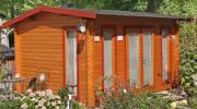 Wolff Finnhaus Holz Gartenhaus 40 mm Helgoland 40-B Naturbelassen 410 x 300 cm