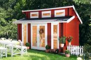 Wolff Finnhaus Holz Gartenhaus 40 mm Langeoog 40 Naturbelassen 400 x 310 cm