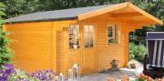Wolff Finnhaus Holz Gartenhaus 44 mm Lisa 44-A Naturbelassen 360 x 300 cm