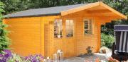 Wolff Finnhaus Holz Gartenhaus 44 mm Lisa 44-A XL Naturbelassen 360 x 300 cm