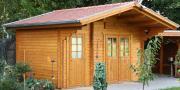 Wolff Finnhaus Holz Gartenhaus 58 mm Caro 58-B Klassik Naturbelassen 450 x 300 cm